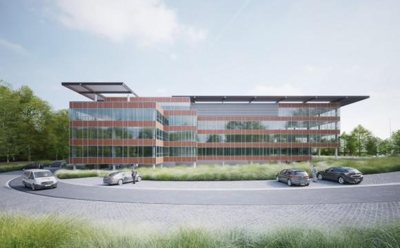 Nouveau bâtiment en construction à Namur Office Park