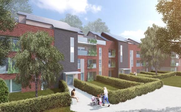 Un nouveau quartier de logements à Liège