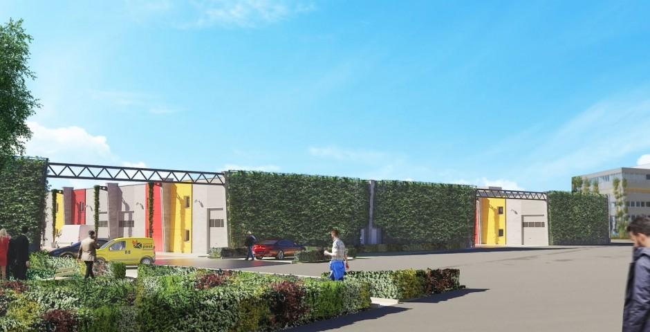 Construction d'un parc intégrant des TPE sur le site de Newton à Anderlecht